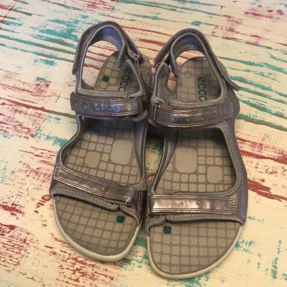 ECCO Shoes | Womens Metallic Sandals